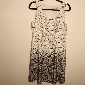 Ann Taylor Loft Sleeveless Gray/White Dress SZ8